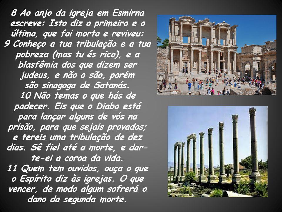 Continuando o percurso circular ascendente na Ásia, depois de passar por Éfeso e Esmirna a terceira cidade a ser atingida com a mensagem é a de Pérgamo.
