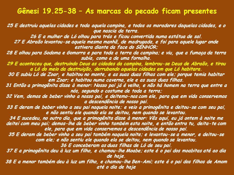 Conclusão – Algumas lições 1.Como Sodoma e Gomorra foram destruídas.