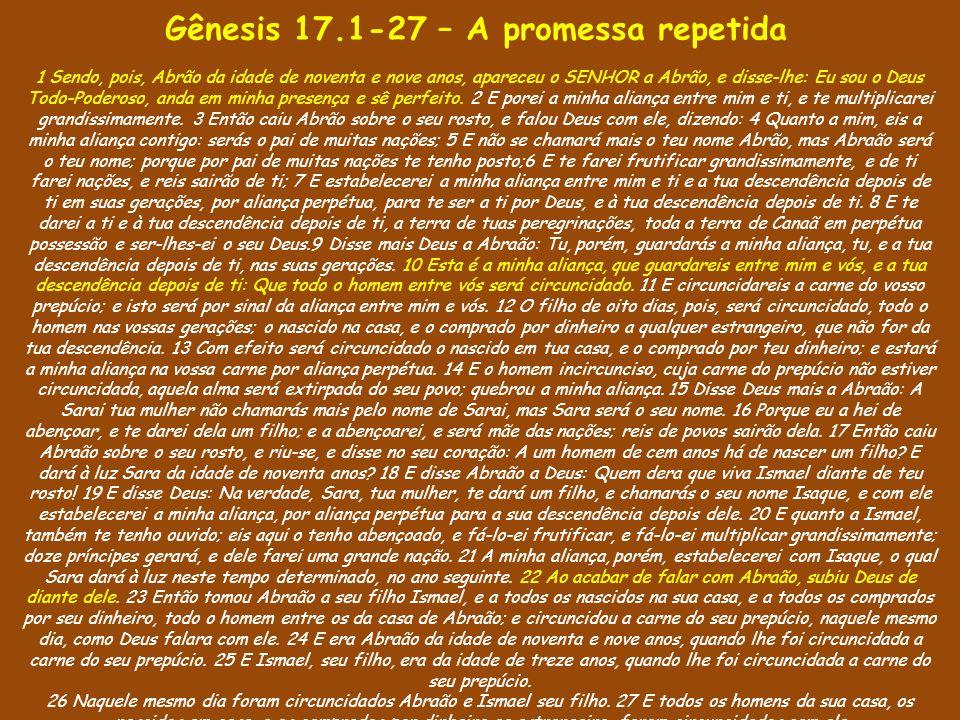 A hospitalidade de Abraão A consideração do Senhor pelo servo O envio dos três emissários A desconfiança de Sara A intransigência do Senhor com o pecado.