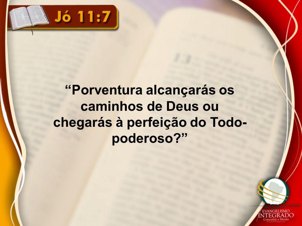 Porventura alcançarás os caminhos de Deus ou chegarás à perfeição do Todo- poderoso?