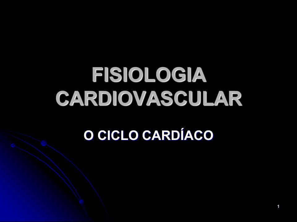 1 FISIOLOGIA CARDIOVASCULAR O CICLO CARDÍACO