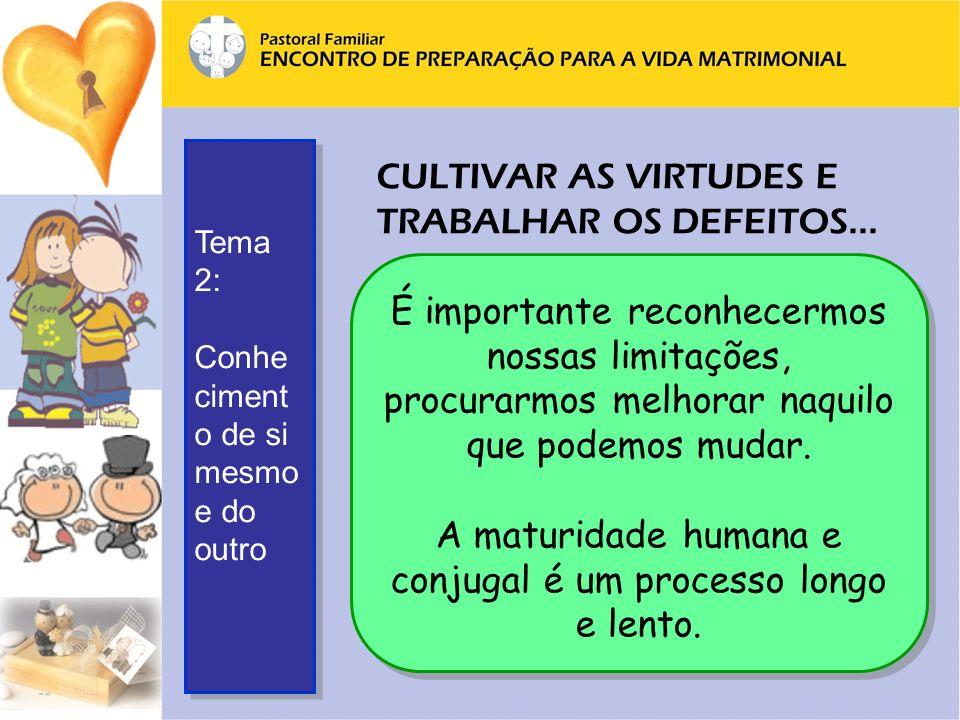 CULTIVAR AS VIRTUDES E TRABALHAR OS DEFEITOS...