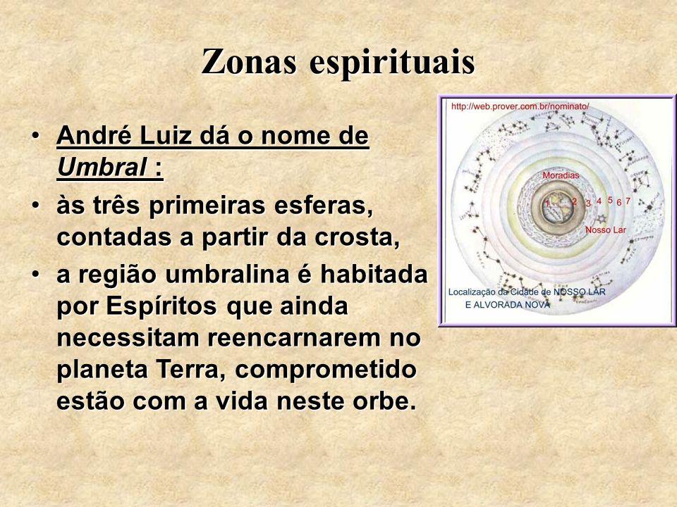 André Luiz dá o nome de Umbral :André Luiz dá o nome de Umbral : às três primeiras esferas, contadas a partir da crosta,às três primeiras esferas, con