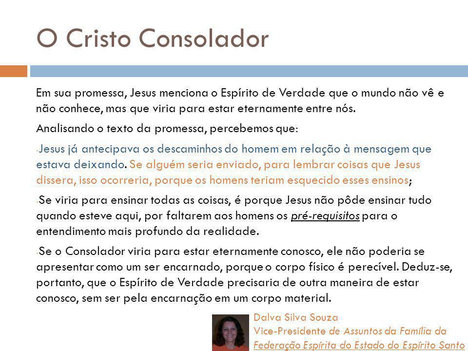 O Cristo Consolador - Repouso É um convite para que o ser humano assuma a própria vida e não tema o processo de autoconhecimento.