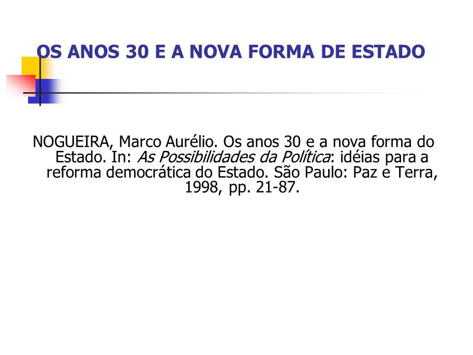 A Era Vargas fez da década de 30 um dos períodos mais emblemáticos da história da República Brasileira.