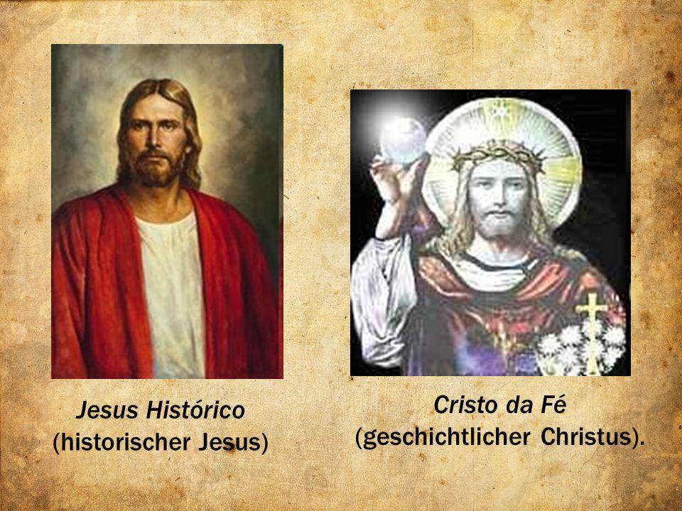 ILUMINISMO ALEMÃO O primeiro (Histórico) sempre existiu, constitui o Jesus historicamente real.