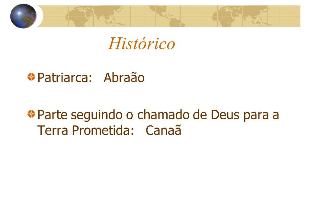 Histórico Patriarca: Abraão Parte seguindo o chamado de Deus para a Terra Prometida: Canaã