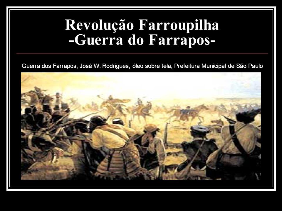 Revolução Farroupilha -Guerra do Farrapos- Guerra dos Farrapos, José W. Rodrigues, óleo sobre tela, Prefeitura Municipal de São Paulo