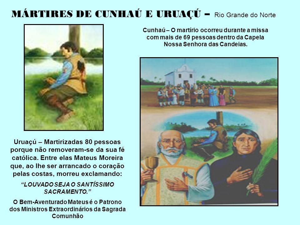 SÃO ROQUE GONZALES, SANTO AFONSO RODRIGUES E SÃO JOÃO DEL CASTILHO, MISSIONÁRIOS JESUÍTAS MARTIRIZADOS NO SUL DO BRASIL EM 1620, POR UM GRUPO DE ÍNDIO