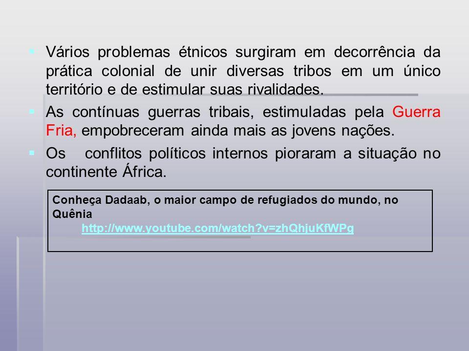 Vários problemas étnicos surgiram em decorrência da prática colonial de unir diversas tribos em um único território e de estimular suas rivalidades. A