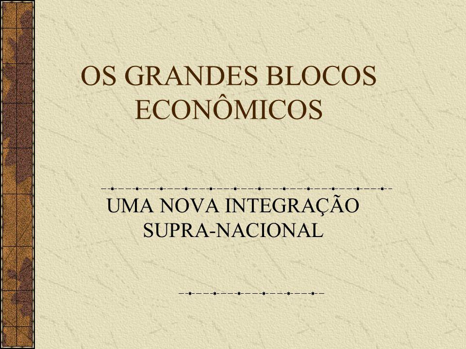 OS GRANDES BLOCOS ECONÔMICOS UMA NOVA INTEGRAÇÃO SUPRA-NACIONAL