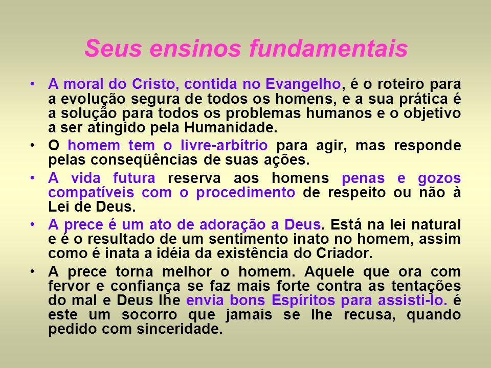 A moral do Cristo, contida no Evangelho, é o roteiro para a evolução segura de todos os homens, e a sua prática é a solução para todos os problemas hu