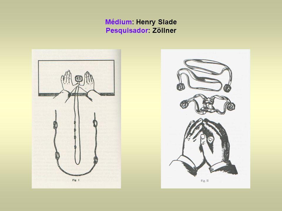 Médium: Henry Slade Pesquisador: Zöllner