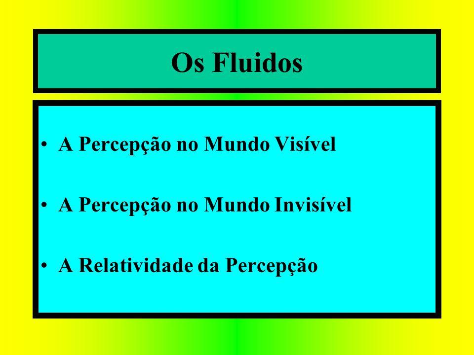 A Percepção no Mundo Visível A Percepção no Mundo Invisível A Relatividade da Percepção Os Fluidos