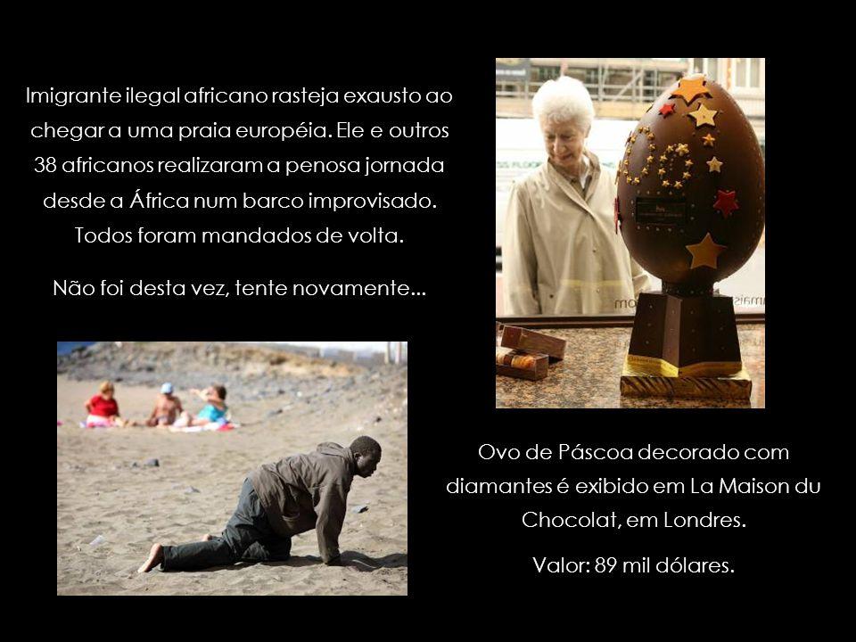Criação do estilista francês Jean-Paul Gaultier. Alta costura européia; em que mundo eles vivem? Criação de um estilista anônimo. Baixa costura africa