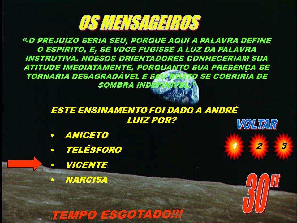 O QUE PRECISA O MÉDIUM PARA SER FERRAMENTA ÚTIL CONFORME EXPOSTO POR TOBIAS A ANDRÉ LUIZ? TEMPO ESGOTADO!!! 1)RENÚNCIA E ALTRUÍSMO 2)ESPÍRITO MISSIONÁ