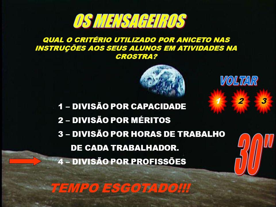 QUAL DAS FRASES ABAIXO NÃO FOI DITA POR TELÉSFORO TEMPO ESGOTADO!!.