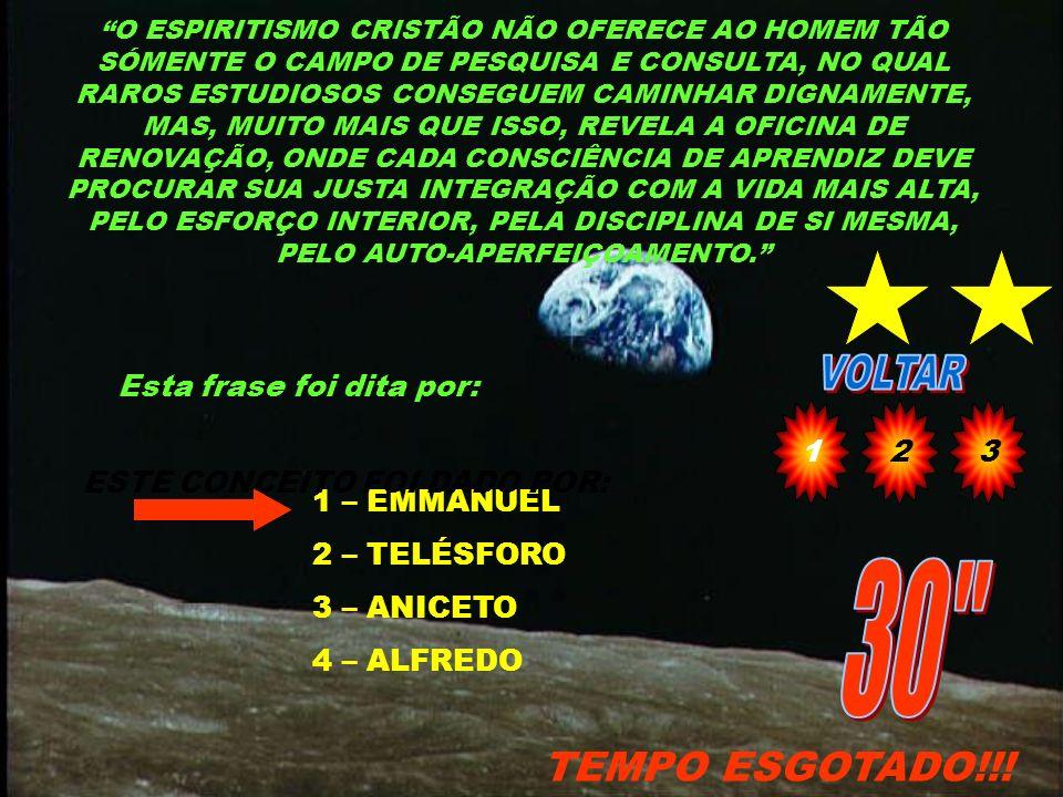 QUAL O NOME DO VELHINHO DE BARBAS BRANCAS QUE RECLAMAVA RETORNO AO LAR, PREOCUPADO COM A TERRA E OS ESCRAVOS PORQUE ACHAVA QUE OS FILHOS NÃO SE MOVIAM SEM ELE E QUE ERAM PREGUIÇOSOS 1 - ARISTARCO 2 - MALAQUIAS 3 – VISCONDE DE CAIRU 4 - LEONARDO CAP.21 12 TEMPO ESGOTADO