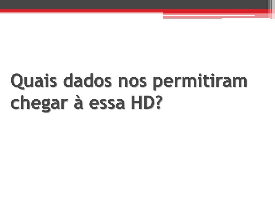 Quais dados nos permitiram chegar à essa HD?