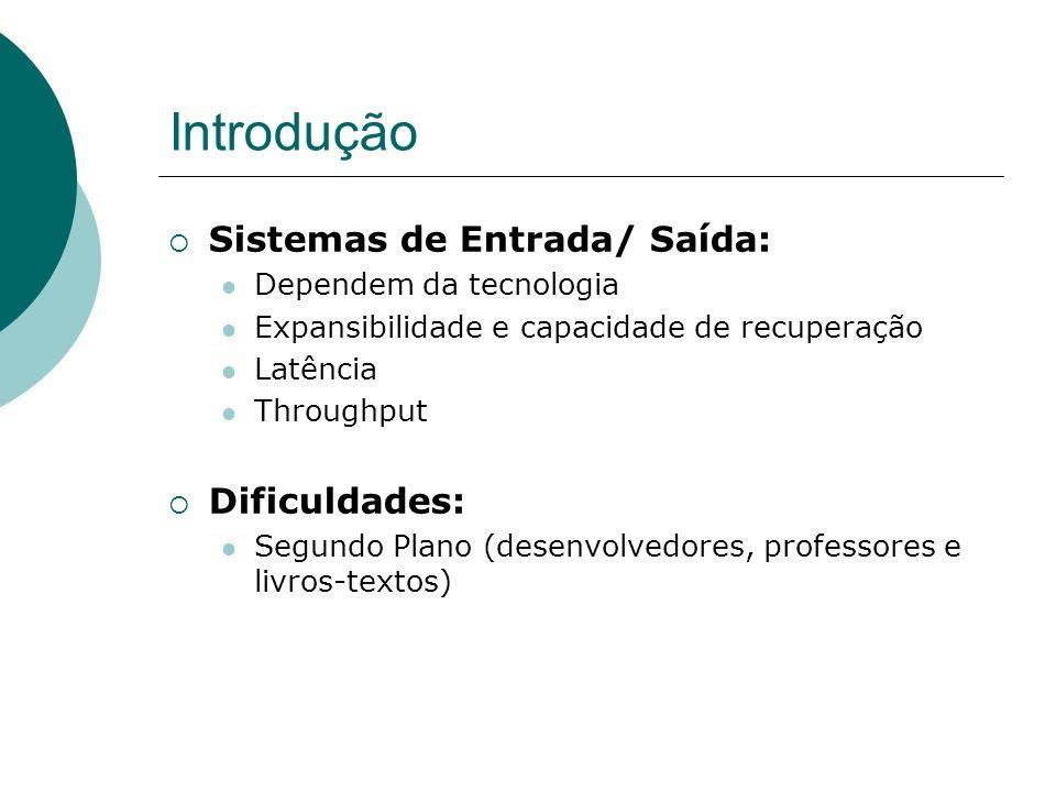 Interface dos dispositivos de E/S O SO é responsável pelo tratamento de E/S.