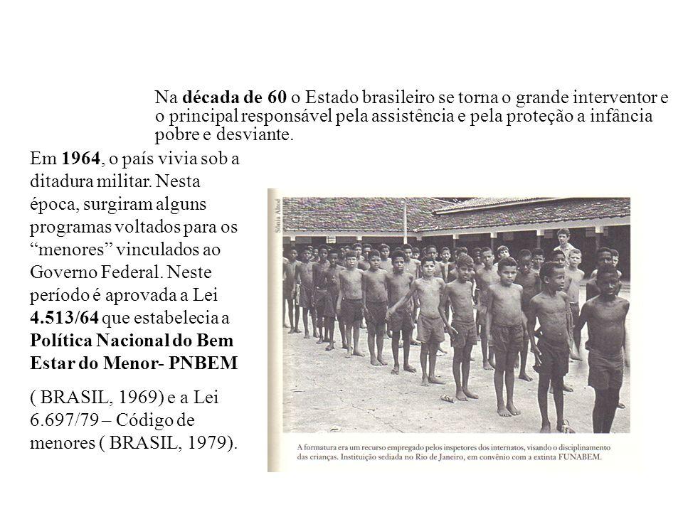 Em 1964, o país vivia sob a ditadura militar. Nesta época, surgiram alguns programas voltados para os menores vinculados ao Governo Federal. Neste per