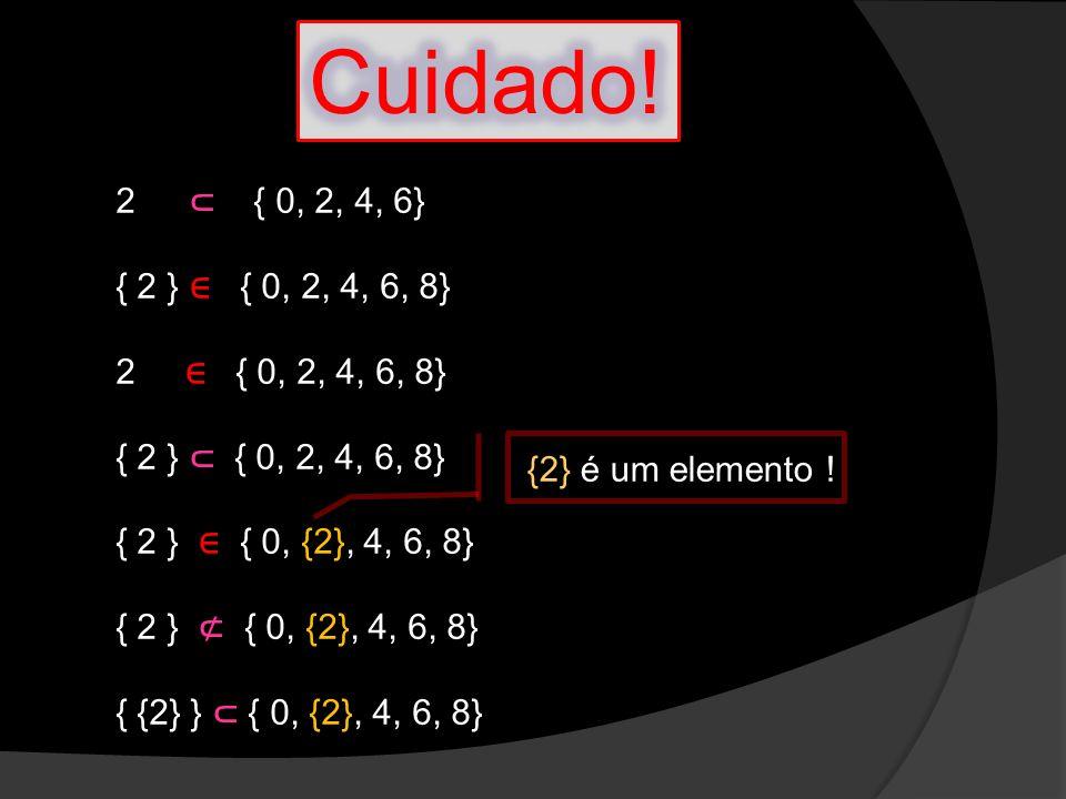 Operações com conjuntos: Produto cartesiano Seja o conjunto A={0, 1,2, 3, 4} e o conjunto B={0, 2, 5, 6}, temos: A x B = {(x,y)/ x A e y B} (Produto cartesiano) AxB = {(0,0); (0,2); (0,5); (0,6); (1,0); (1,2); (1,5); (1,6); (2,0); (2,2); (2,5); (2,6); (3,0); (3,2); (3,5); (3,6); (4,0); (4,2); (4,5); (4,6)} Atenção: n(A) = 5 e n(B)=4 e n(AxB)=5.