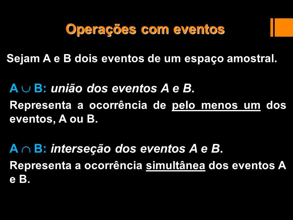 O complementar de A é representado por A c.