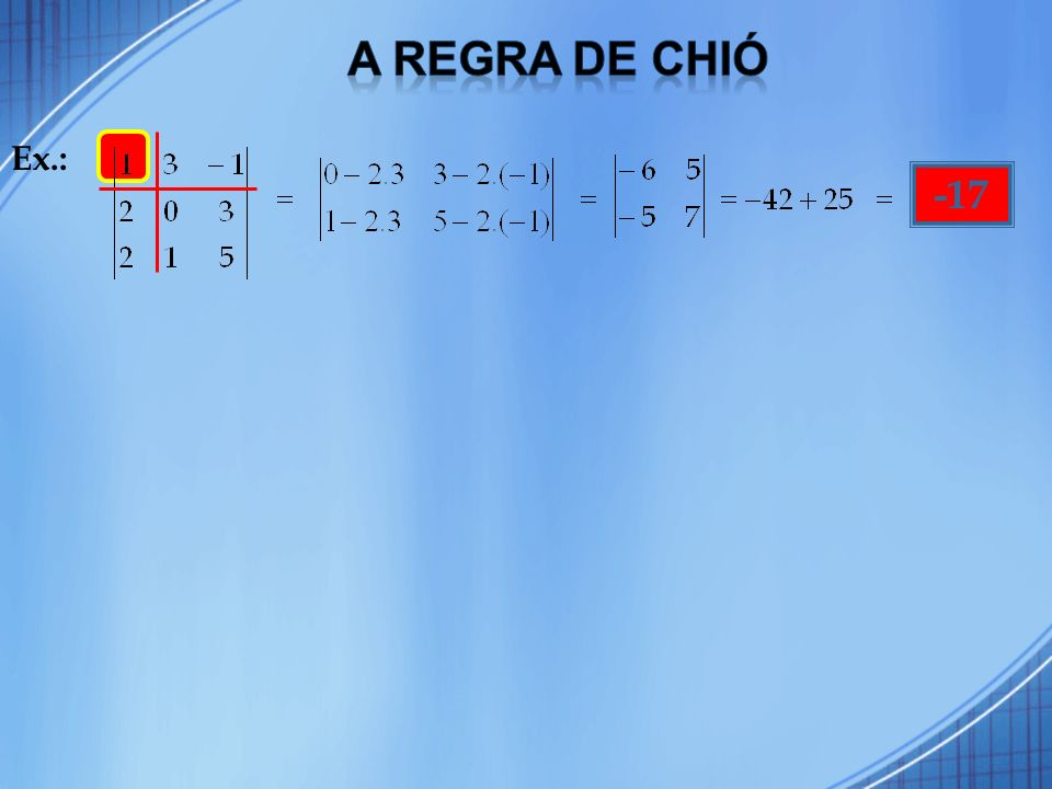 Chamamos matriz de Vandermonde, ou das potências, toda matriz de ordem n 2, em que suas colunas são potências de mesma base, com expoente inteiro, variando de 0 à n – 1 (os elementos de cada coluna formam uma progressão geométrica de primeiro termo igual a 1).
