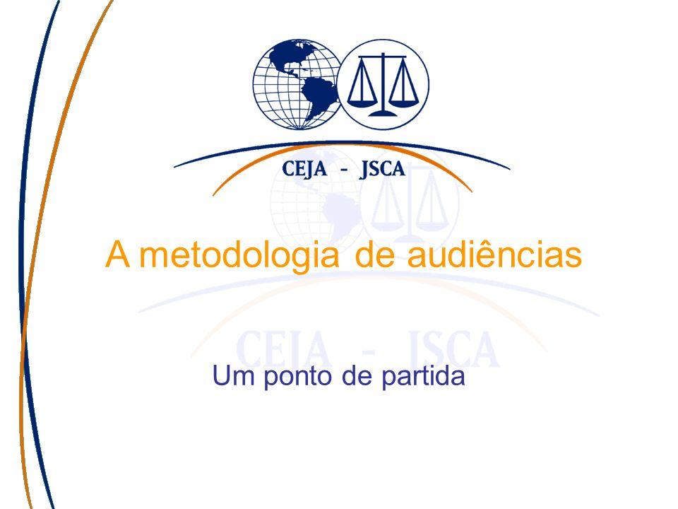 A metodologia de audiências Um ponto de partida