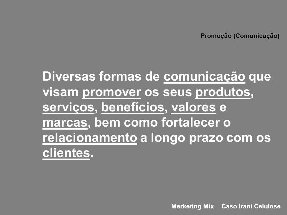Diversas formas de comunicação que visam promover os seus produtos, serviços, benefícios, valores e marcas, bem como fortalecer o relacionamento a lon