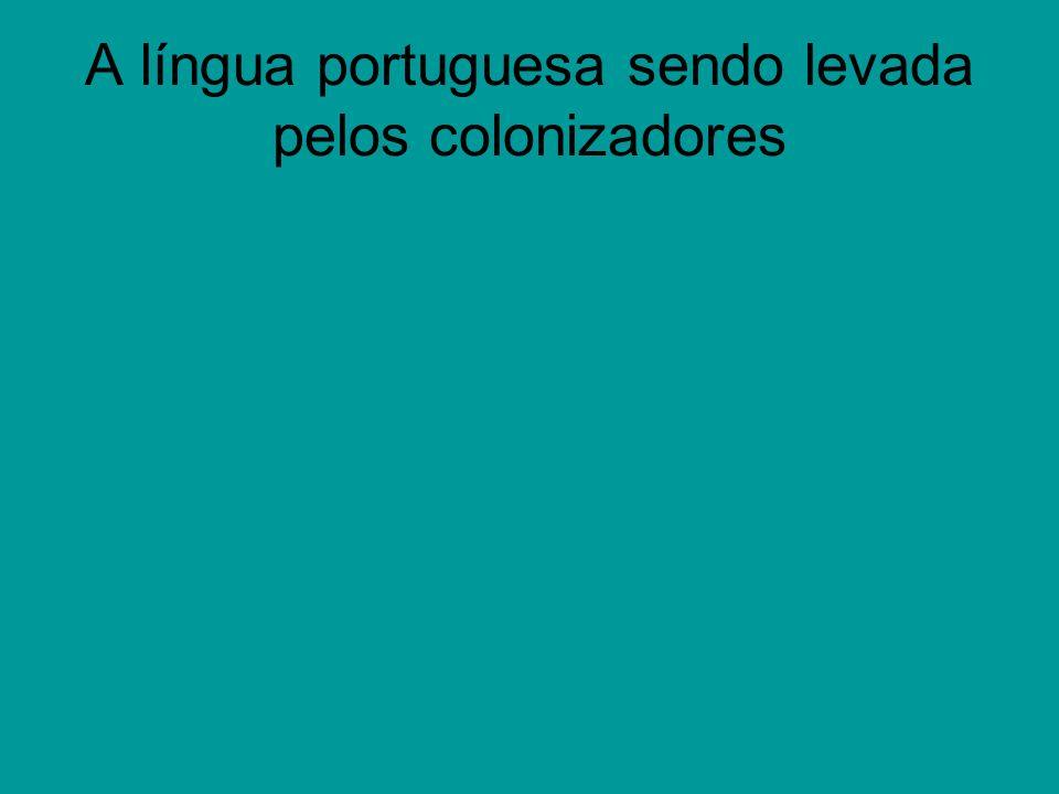 O português sendo modificado no Brasil no inicio da colonização Ao chegar no Brasil os portugueses tiveram a língua influenciada pelos nativos, os índios.