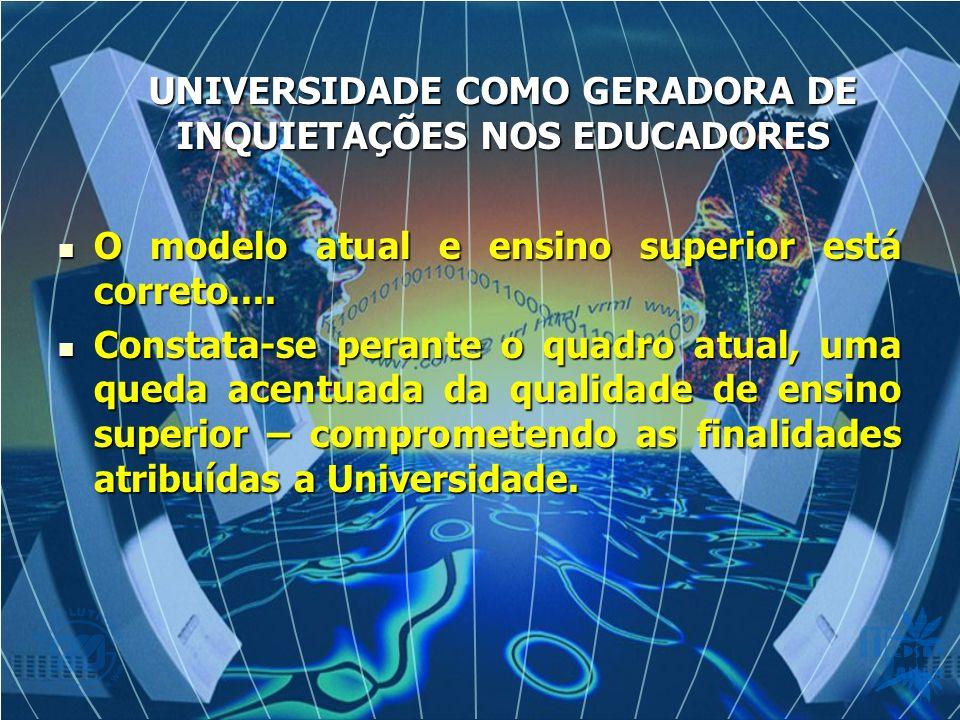 O modelo atual e ensino superior está correto.... O modelo atual e ensino superior está correto.... Constata-se perante o quadro atual, uma queda acen