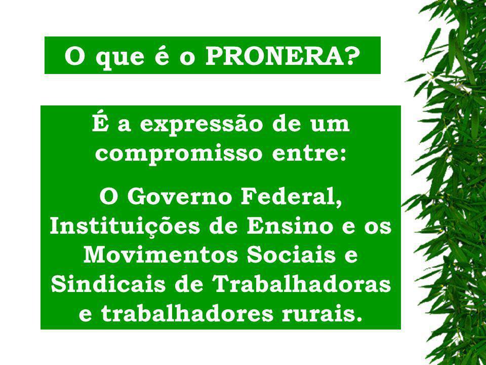 PRONERA PROGRAMA NACIONAL DE EDUCAÇÃO NA REFORMA AGRÁRIA