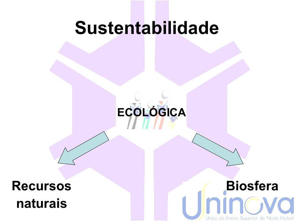 Sustentabilidade SOCIAL Distribuição de renda Direitos á Dignidade humana Laços sociais