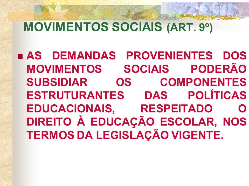 MOVIMENTOS SOCIAIS (ART.