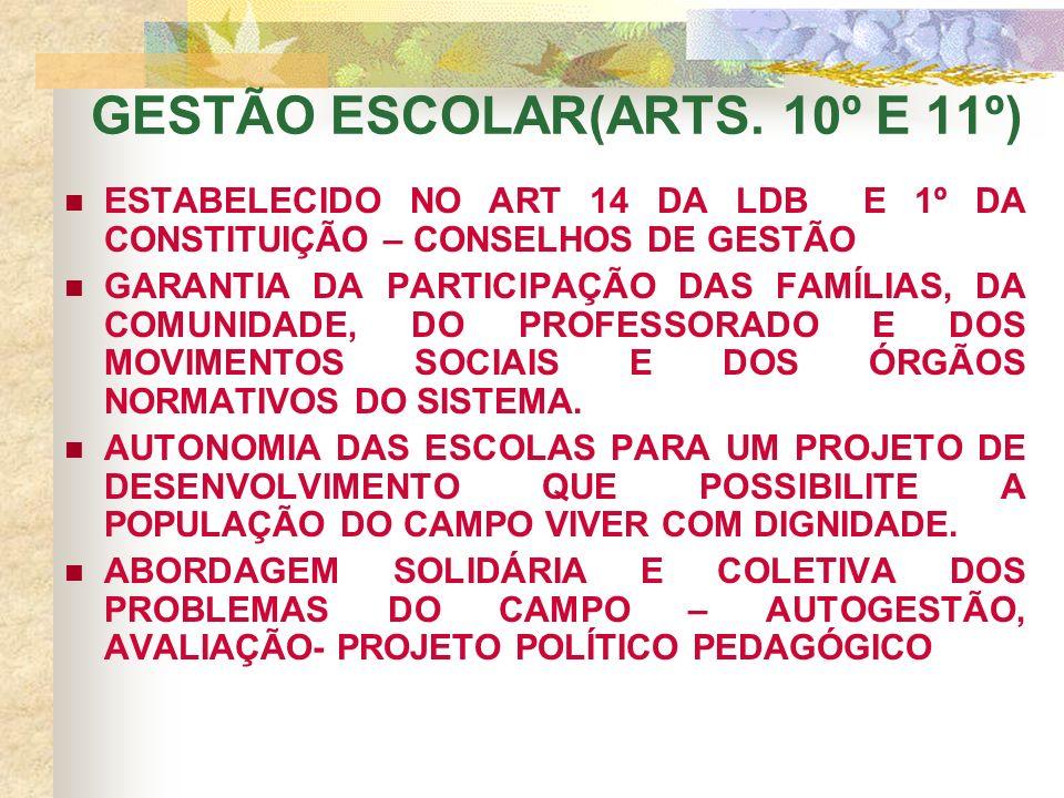 GESTÃO ESCOLAR(ARTS.