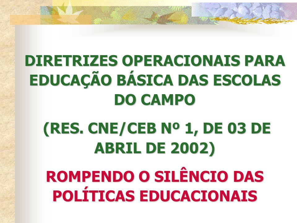 FINANCIAMENTO DA ESCOLA DO CAMPO CUMPRIR O ART.