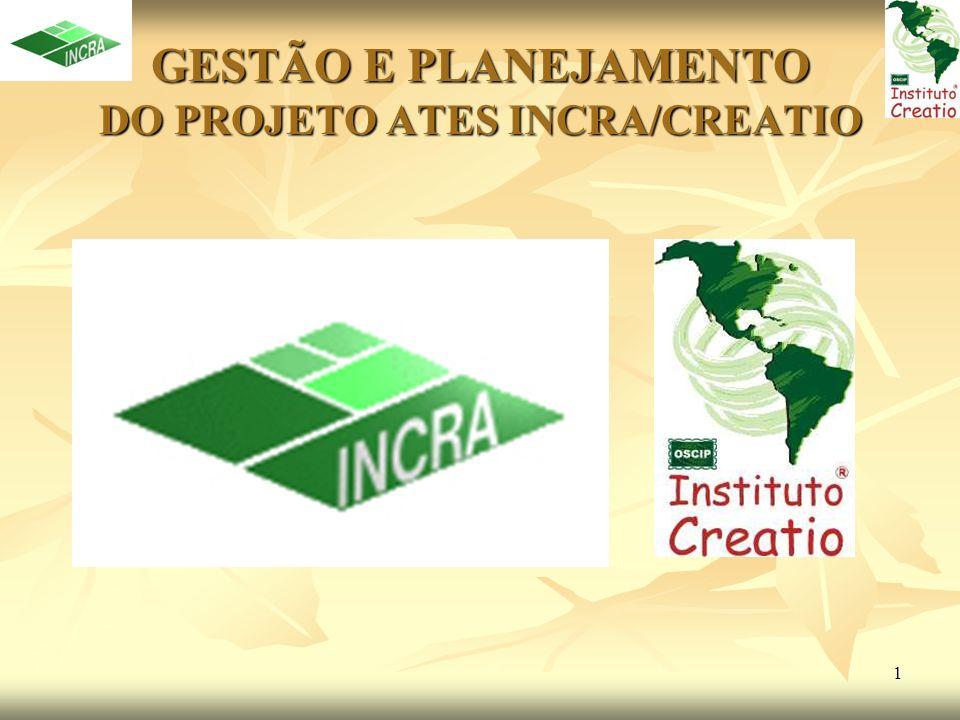 1 GESTÃO E PLANEJAMENTO DO PROJETO ATES INCRA/CREATIO