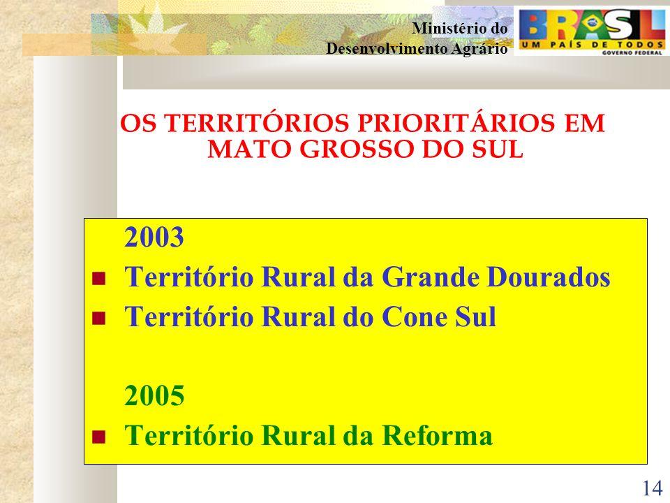 13 Ministério do Desenvolvimento Agrário ESTRATÉGIA METODOLÓGICA Identificação dos territórios (realizada nos Estados, principalmente através do CEDRS