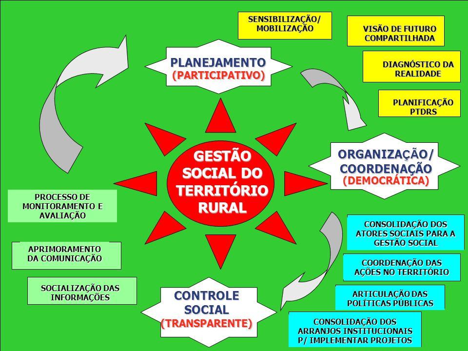 19 Ministério do Desenvolvimento Agrário CICLO DA GESTÃO TERRITORIAL
