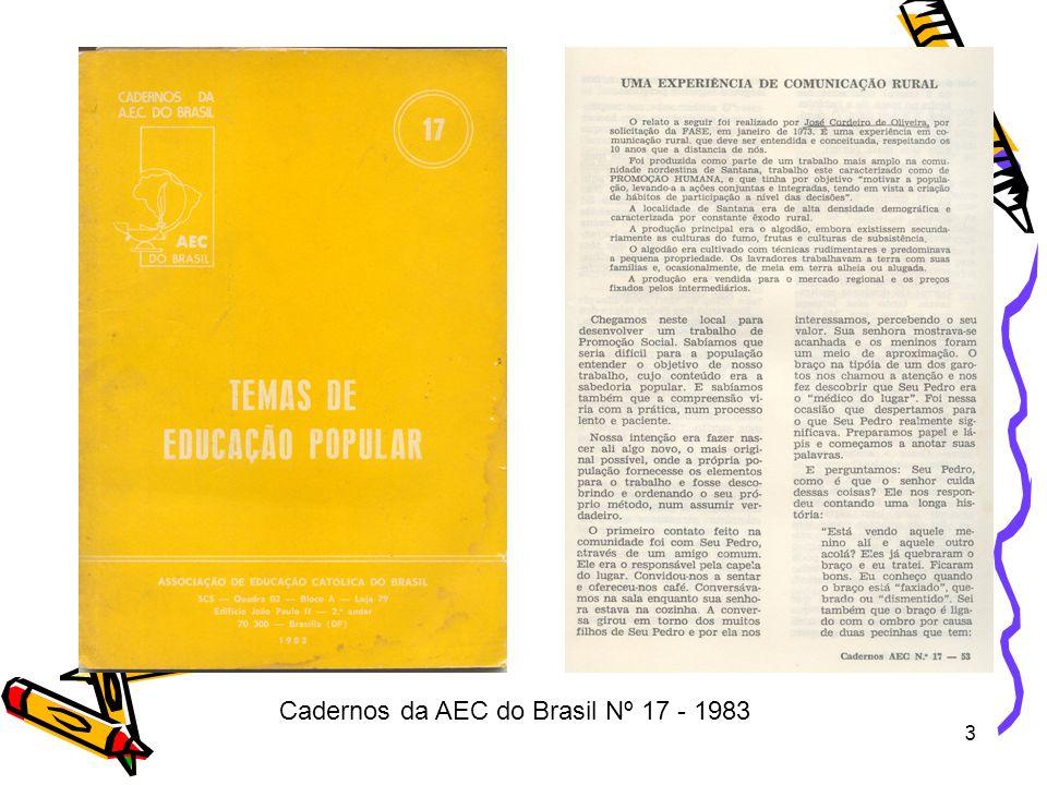 3 Cadernos da AEC do Brasil Nº 17 - 1983