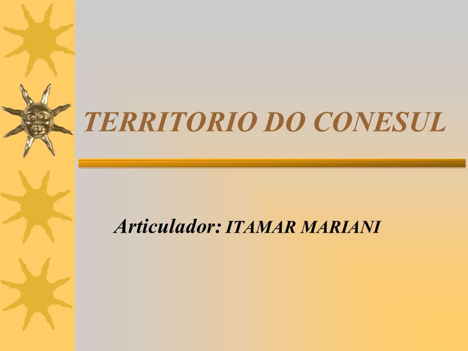 TERRITORIO DO CONESUL Articulador: ITAMAR MARIANI