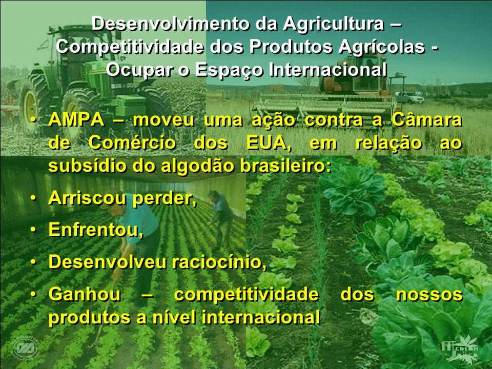 Desenvolvimento da Agricultura – Competitividade dos Produtos Agrícolas - Ocupar o Espaço Internacional AMPA – moveu uma ação contra a Câmara de Comér