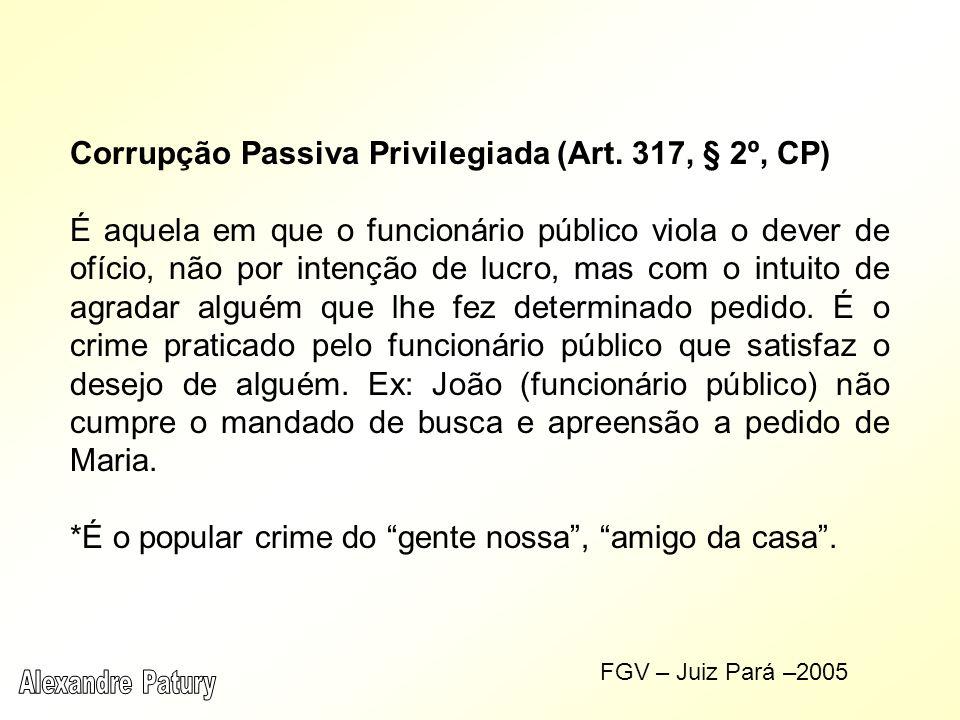 Corrupção Passiva Privilegiada (Art.