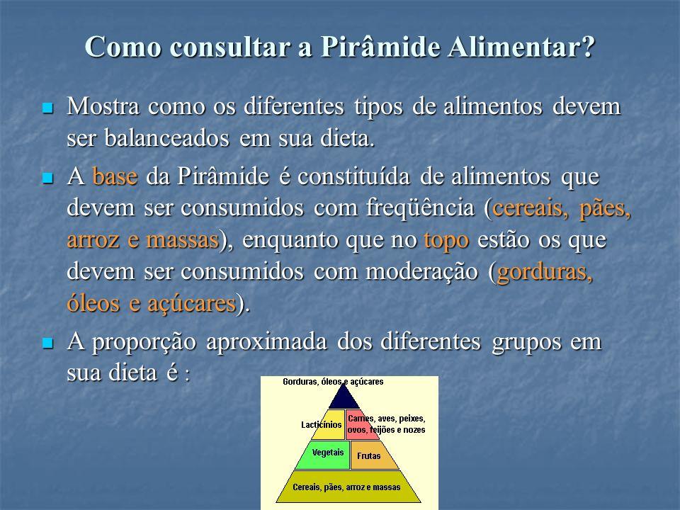 Como consultar a Pirâmide Alimentar.