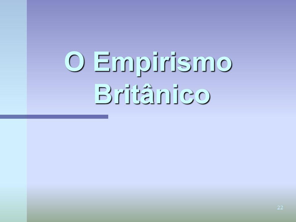 22 O Empirismo Britânico