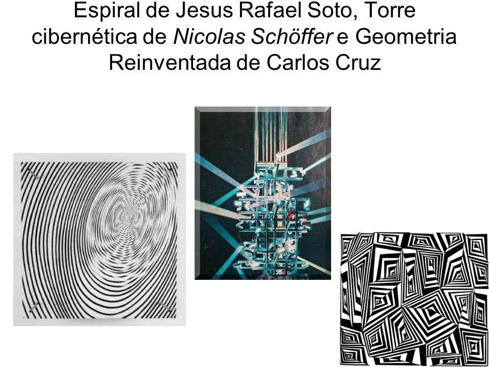 Espiral de Jesus Rafael Soto, Torre cibernética de Nicolas Schöffer e Geometria Reinventada de Carlos Cruz