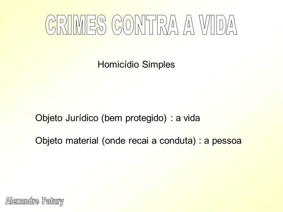 Dolo genérico – não exige qualquer finalidade especial, bastando a vontade de matar (animus necandi) Crime de ação livre – meios mecânicos, químicos, morais, direto ou indireto, por ação ou por omissão (art.