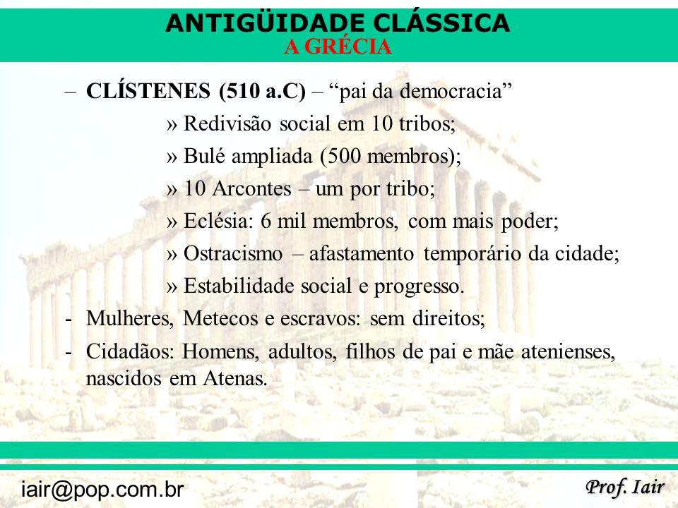 ANTIGÜIDADE CLÁSSICA Prof.
