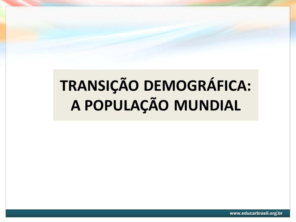 1 TRANSIÇÃO DEMOGRÁFICA: A POPULAÇÃO MUNDIAL